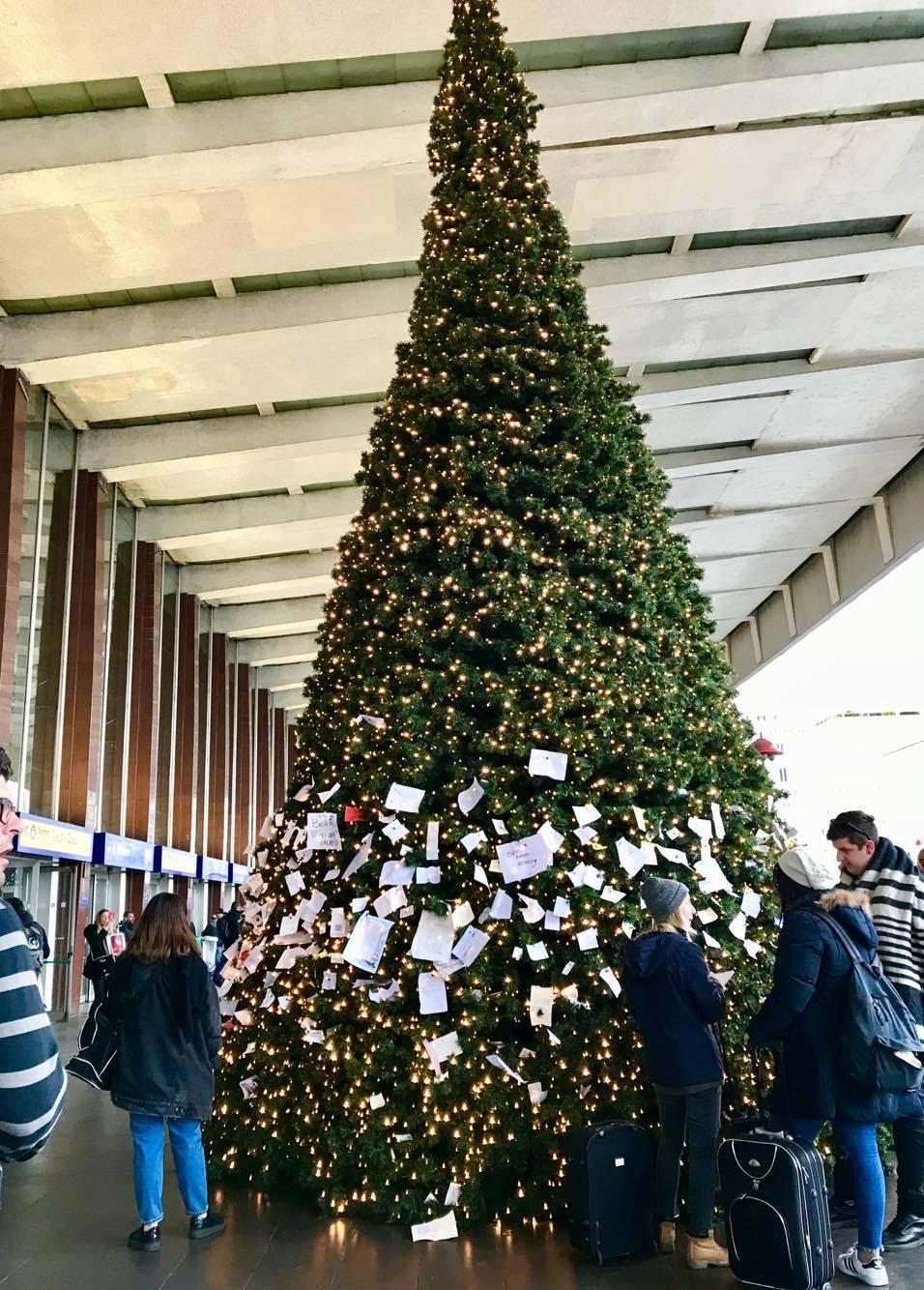 Albero Di Natale Roma 2019.L Albero Dei Desideri Il Natale Alla Stazione Termini Gli